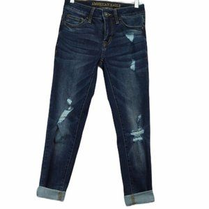 American eagle extreme flex distressed jeans